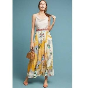 Anthropologie Bohemian Style silk skirt.